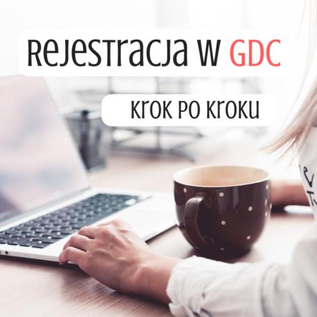 rejestracja w GDC produkt